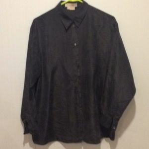 Vintage Michael Kors Made in Italy Silk Blouse 8